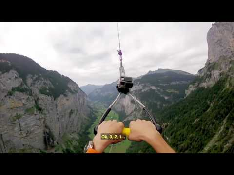 The most beautiful flying parachutes in the most beautiful places Swiss Alps