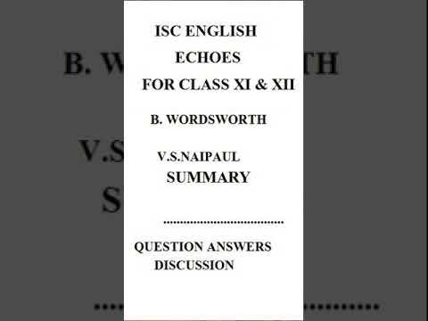 summary of b wordsworth by vs naipaul