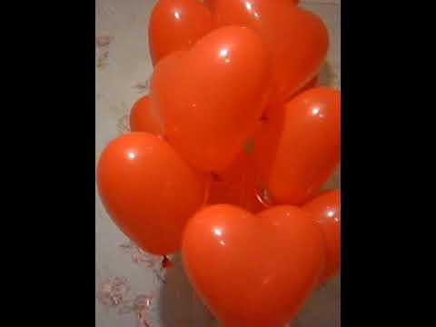 гелиевые шарики сердечки