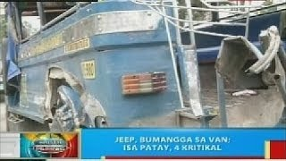 BP: Jeep, bumangga sa van sa Misamis Oriental; isa patay, 4 kritikal