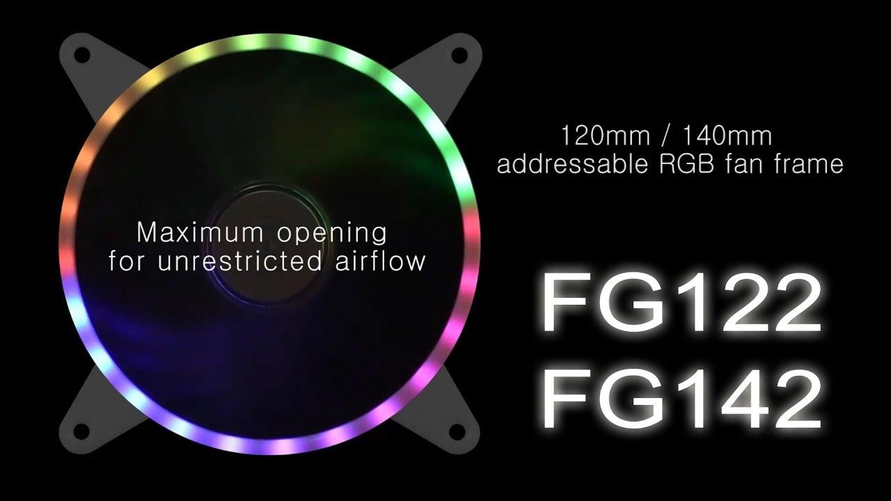 SilverStone SST-FG122-120mm L/üftergrill mit Integrierter adressierbarer RGB LED Leiste