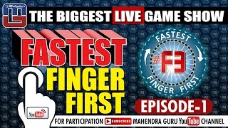 f3    fastest finger first    episode 01   11th january 2017   f3 live every wednesday at 10 am