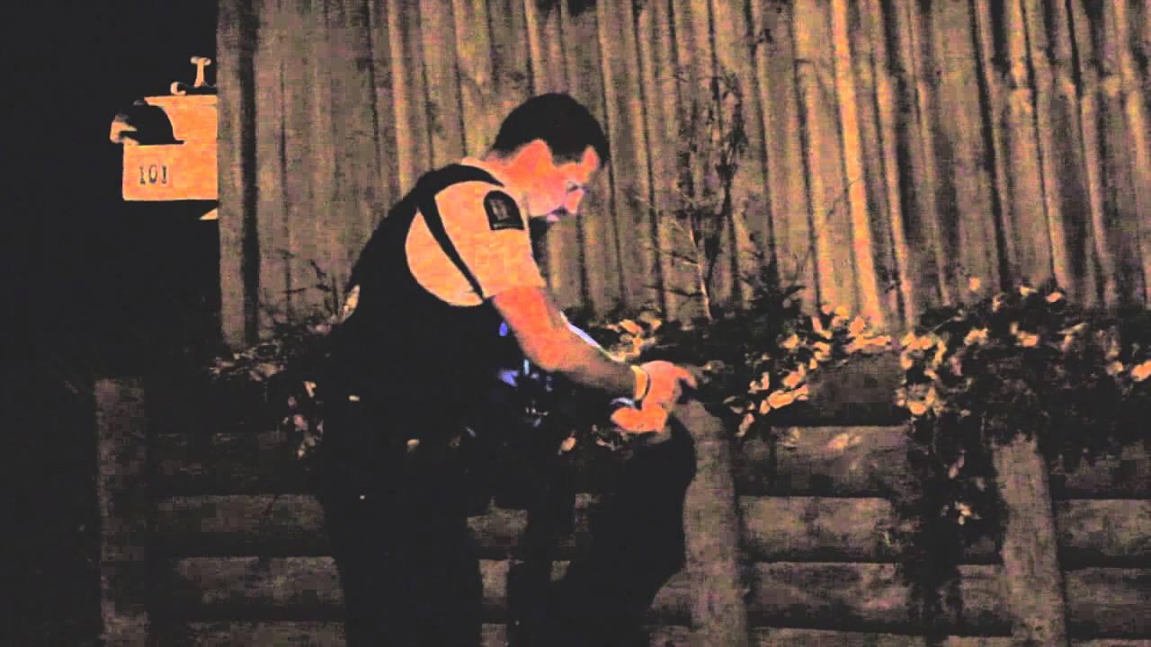 Police unloading Glock