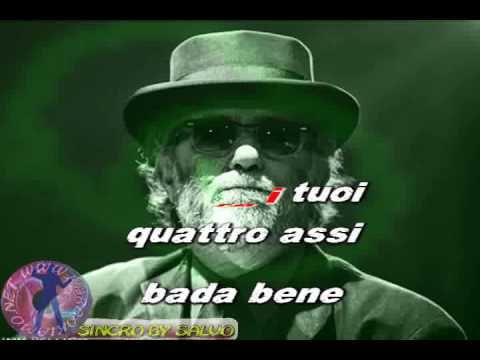 Francesco De Gregori - Rimmel (karaoke - fair use)