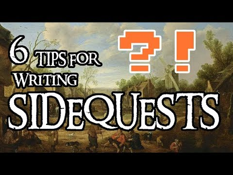 6 Tips for Writing SIDE QUESTS