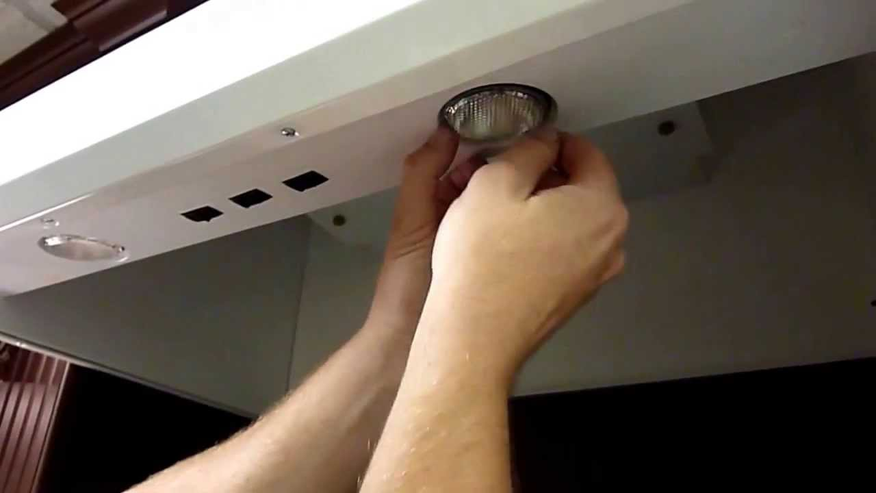 Removal Of Par Halogen Bulbs On A Vent A Hood Ventahoodpartcom - Kitchen hood light fixtures