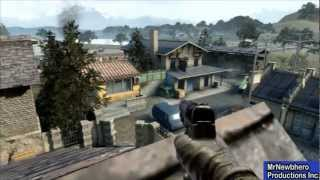 Black Ops 2 Secret Spots - How to get on roof in Standoff
