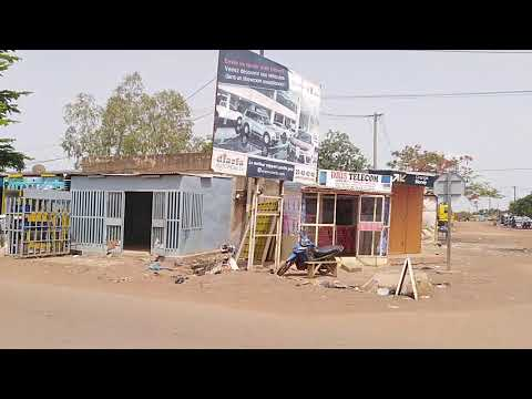 Driving in Ouagadougou, Burkina Faso  Part 2