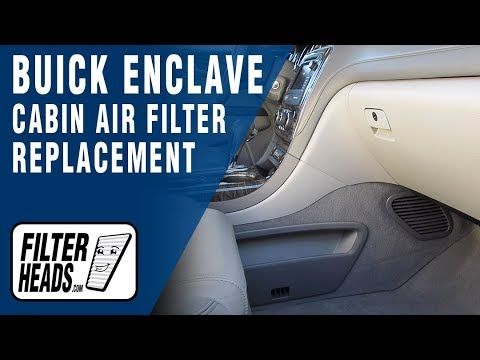 How to Replace Cabin Air Filter 2013 Buick Enclave