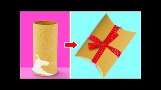 как красиво упаковать конфеты в подарок на Новый год