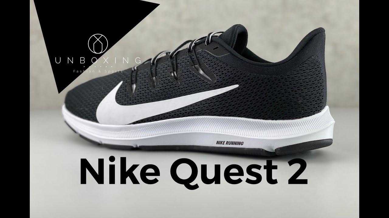 Nike QUEST 2 'Black/white'   UNBOXING & ON FEET   running shoes   2020