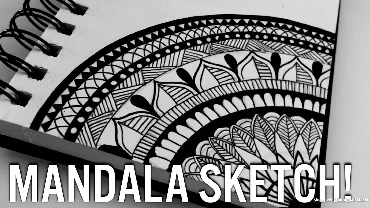 Mandala Sketch Beautiful Youtube