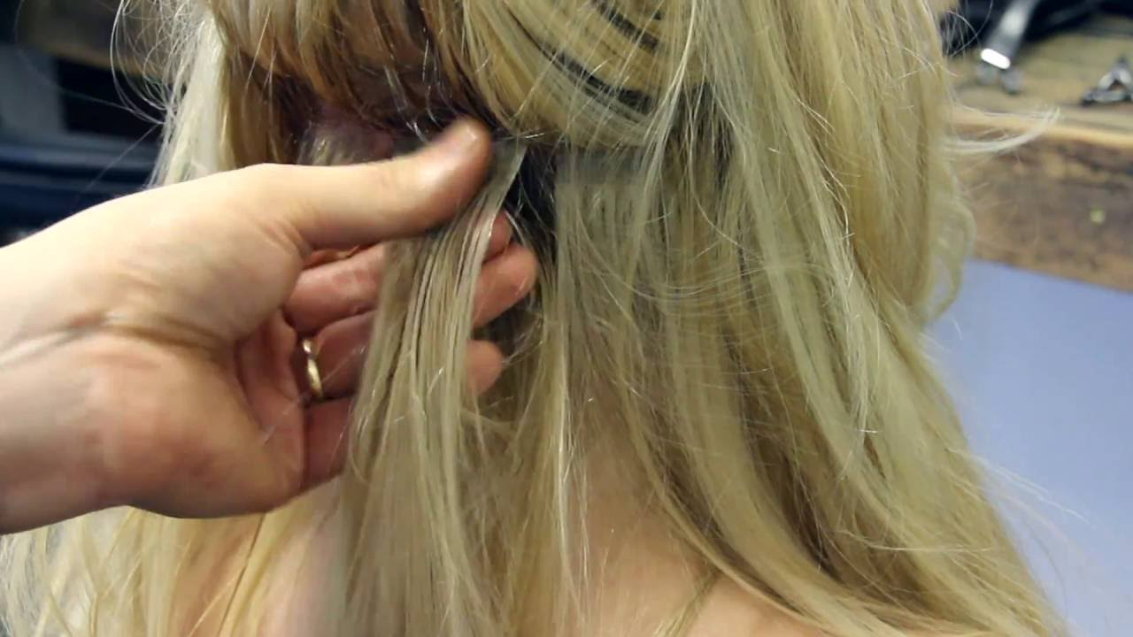How To Apply Tape Weft Hair Extensions By Red Carpet Luxury Hair