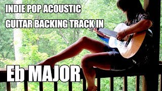 Indie Pop Acoustic Guitar Backing Track In Eb Major