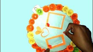 Handmade Hanging Card with cake Base board-Diy with cake Base board-Cake Base Board craft-Tuber Ti