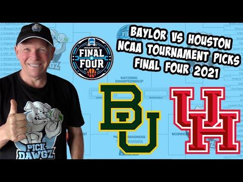 Baylor vs Houston 4/3/21 Free College Basketball Pick and Prediction NCAA Tournament Final Four