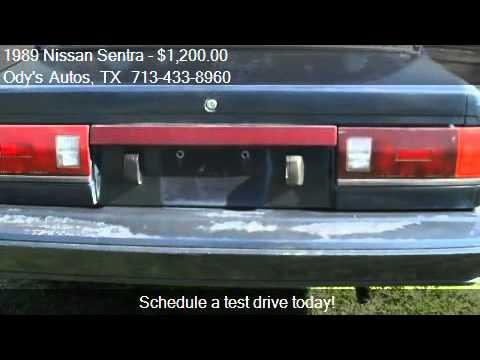 1989 Nissan Sentra E Sedan For Sale In Houston Tx 77045