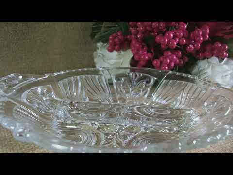 Antique Indiana Glass Depression Glass Divided Serving Dish Art Deco Tableware