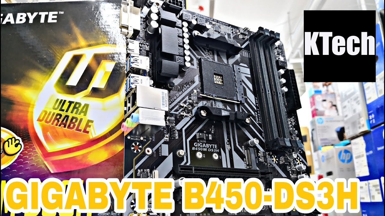 Gigabyte AMD B450M DS3H Ultra Durable RGB Motherboard