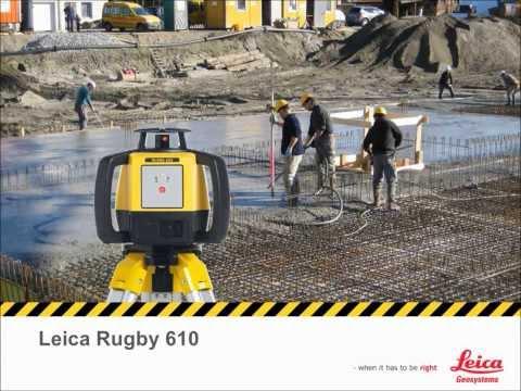 ワンボタンで水平回転のみのシンプルな回転レーザー: Leica Rugby 610