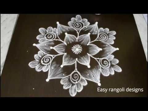 latest pongal kolam designs with dots* sankranthi muggulu *easy friday rangoli designs for beginners