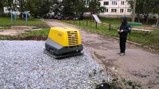 Работа виброплиты (г. Ижевск)