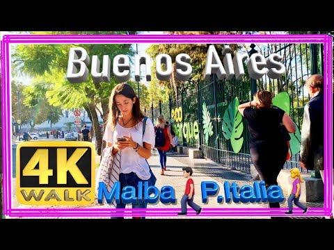 【4K】WALK Buenos Aires 2019 Hiking In PALERMO Argentina - City Walk