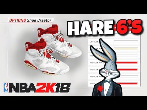 NBA 2K18 SHOE CREATOR TUTORIAL HOW TO MAKE AIR JORDAN 6 ALTERNATE 91