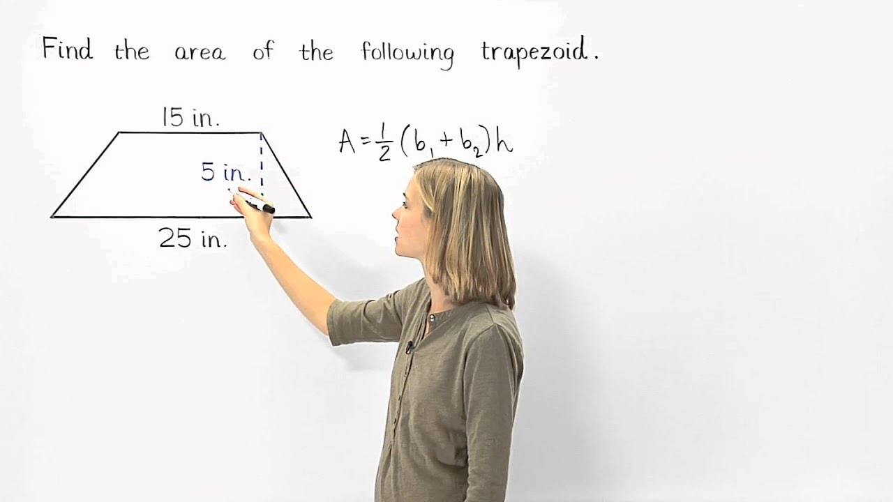 medium resolution of Area of a Trapezoid   MathHelp.com - YouTube