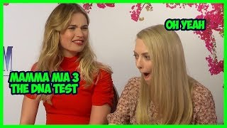 Lily James & Amanda Seyfried Funny Moments MAMMA MIA 2