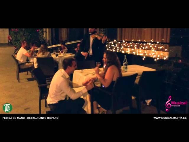 Pedida de Mano - Restaurante Hispano SORPRESA A LA NOVIA Bodas Murcia Musical Mastia
