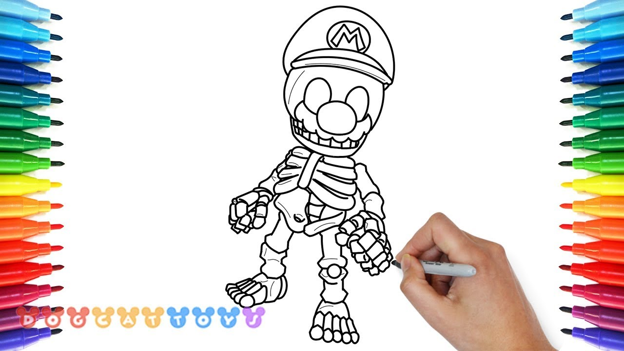 How to Draw Super Mario Odyssey Skelton Mario #7 | Drawing ...