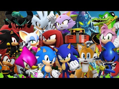 Sonic Forces Speed Battle - ALL CHARACTERS (HD Widescreen 60 fps)