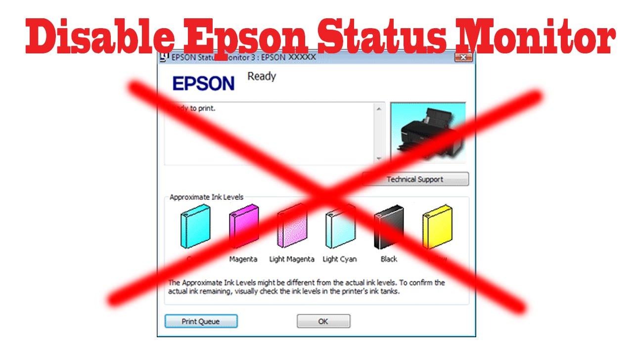 How To Disable Epson Printer Status Monitor 3