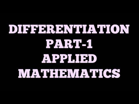 DIFFERENTIATION | PART-1 | APPLIED MATHEMATICS | BSNL JE(TTA) | JTO| ENGINEERING EXAMINATION