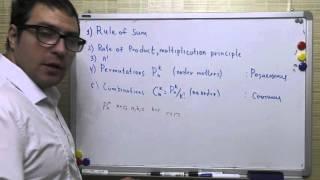 Правило умножения, сочетания, размещения, перестановки, правило суммы