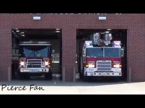 Truck 67, Engine 67 Responding TVF&R (2009 Arrow XT 105' HD Ladder)(2005 Quantum Pumper)