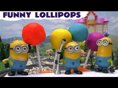 Funny Minions Play Doh Surprise Egg Lollipops Thomas & Friends Despicable Me Cars Angry Birds Frozen