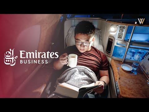 Emirates A380 Business Class - London to Dubai