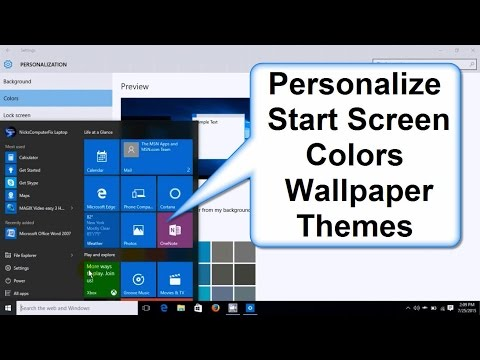 How to Change Windows 10 Start Screen Colors, Background, Wallpaper