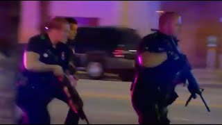 Dallas Police Shooting | Sniper Gunshots From Rooftop