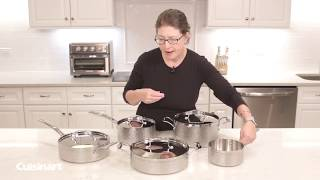 Cuisinart® | Hammered Collection Tri Ply Stainless Steel 9 Piece Cookware