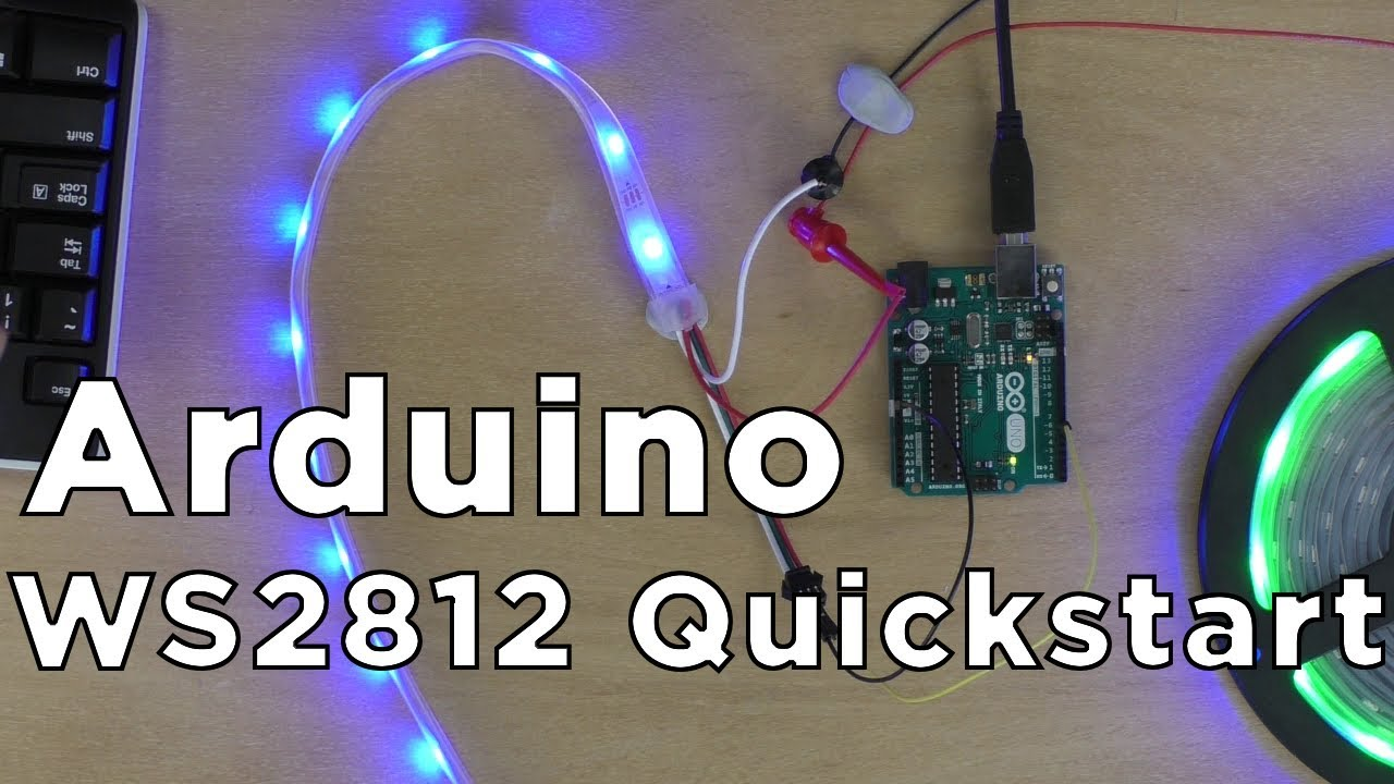 How to use WS2812B RGB LEDs with Arduino