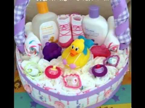 Baby shower gift baskets decoration ideas - YouTube