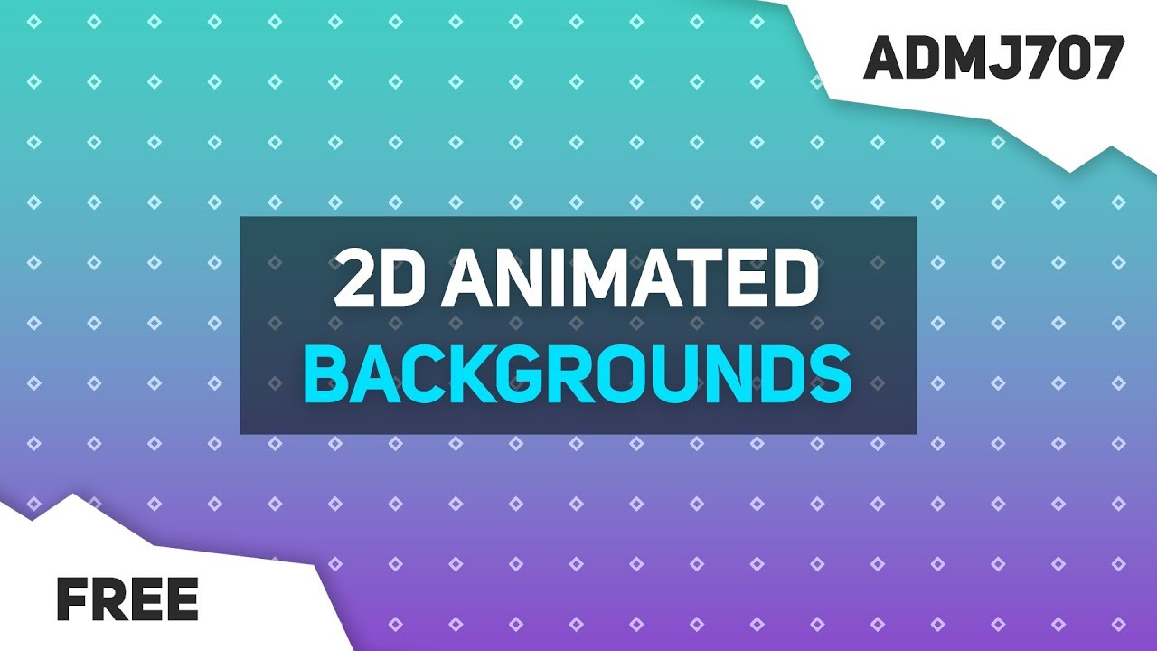 (New) 2D Animated Motion Graphics Backgrounds - After Effects, Sony Vegas,  Blender (Any Software) #2