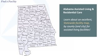 Alabama Assisted Living: Learn About An Excellent State Facility Map