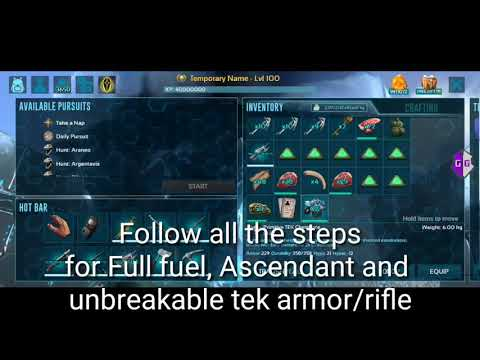 Ark Mobile Tek Armor And Rifle Max Dmg/Armor Hack