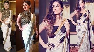 Kareena Kapoor's Simple Elegant Saree Fashion 2018
