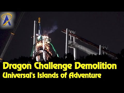 Dragon Challenge Demolition in The Wizarding World of Harry Potter
