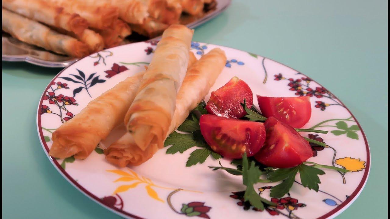Burek - Cigaraburek / Sigara Böreg / Fried cheese rolls / Shqip